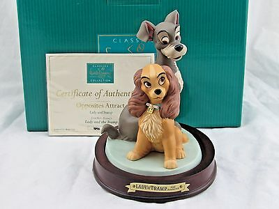 """WDCC """"Opposites Attract"""" from Disney's Lady and the Tramp in Box with COA"""