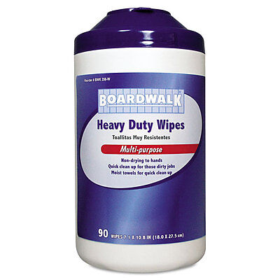 Boardwalk Heavy-Duty Wipes, 10 4/5 x 7, Fresh Scent, 90/Canister, 6 Canisters/C