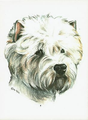 2 Aufkleber/Sticker Hunde West Highland White Terrier [r004]