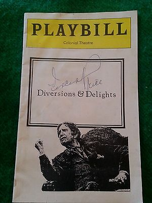 Vtg 1977 Colonial Theater (Boston) Playbill Program☆Autographed By Vincent Price