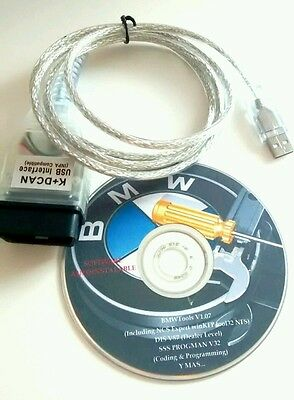 BMW CABLE DIAGNOSIS K+DCAN COMPATIBLE CON INPA -DIS-SSS-NCS+BMW Tools