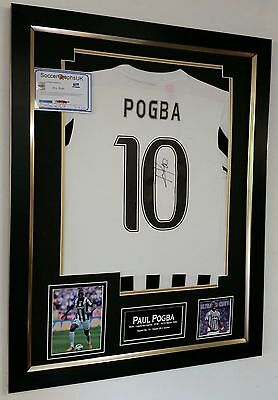 *** Rare Paul Pogba of Juventus Signed SHIRT Picture Autograph Display ***