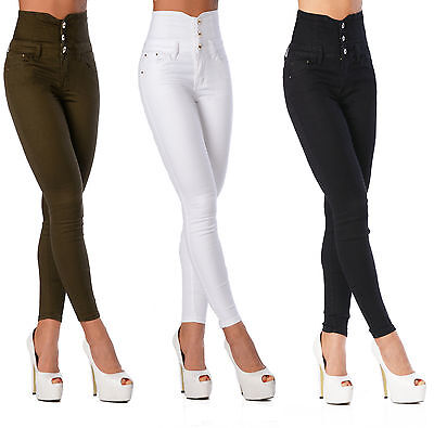 Sexy Women's Stretchy Jeans Trousers High Waisted Skinny Slim H 111
