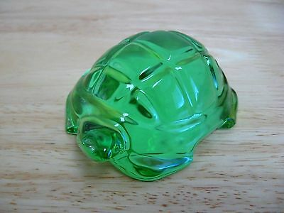 Figurine by Baccarat - French Crystal - Turtle - Emerald Green - MIB