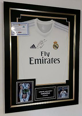 ** NEW Gareth Bale of Real Madrid Signed Shirt AUTOGRAPH Display **