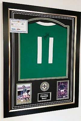 ** Rare GEORGE BEST of Northern Ireland Signed Shirt Autograph DISPLAY  ***