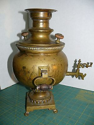 Very Rare Large Antique Russian Brass Samovar/working condition