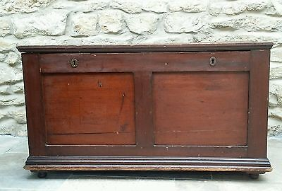 Large 19th century Wooden silver chest ottoman antique box coffer drawers