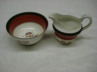 J&G Pair CREAM & SUGAR Ye Olde English Made In England TR5 Creamer