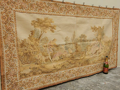 Large Vintage French Beautiful Romantic Scene Tapestry 192x105cm (A753)