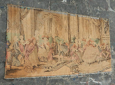 Vintage French Beautiful Party and Dancing Scene Tapestry 91x50cm (A772)