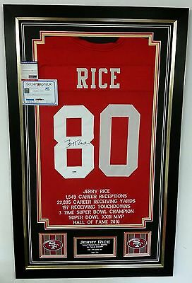 ** Rare JERRY RICE Signed Shirt JERSEY 49ERS Autograph NFL DISPLAY ***