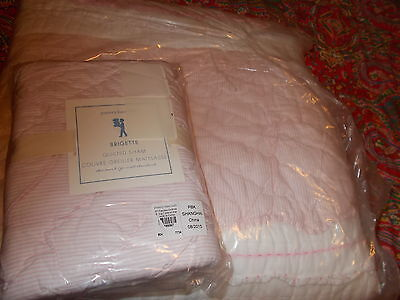 Pottery Barn Kids Brigette Quilt, Twin,+1 Sham, Pink New