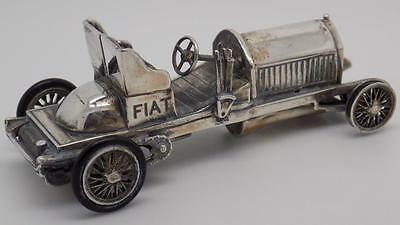 Vintage Solid Sterling Silver 925 FIAT 75 HP 1904 Car Miniature - Stamped - ITAL