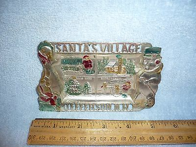 Vintage Souvenir Christmas  tray Santa's Village Jefferson NH