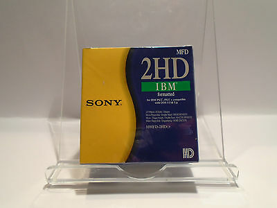 """SONY 2HD IBM Formatted 3.5"""" Floppy Disks DOUBLE SIDED 10x NEW SEALED FREE P+P"""