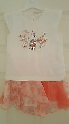 girls top and skirt set age 2-3yrs