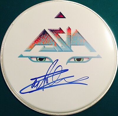 Carl Palmer ASIA Emerson Lake & Palmer Signed Autographed ASIA LOGO DRUMHEAD