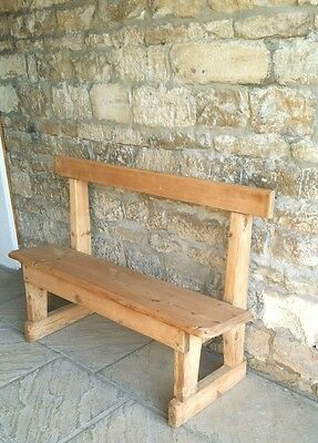 SMALL Solid Mitcham stripped Pine Church Chapel Pew Settle Bench Seat STAMFORD