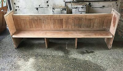 Solid oak  church/chapel pew/bench