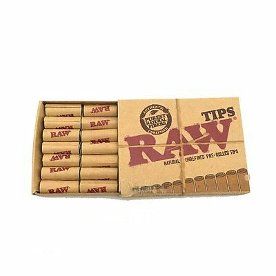 Raw Rolling Papers Unbleached Pre-Rolled Cone Tips - 21 Tips Per Pack