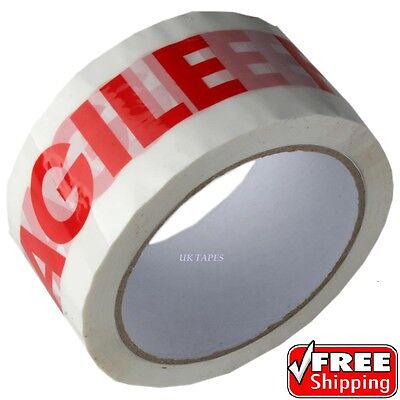 72 Rolls Of Fragile Printed Strong Parcel Packing Tape50Mm X 66M Cartoon Sealing