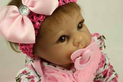 SanyDoll Reborn Baby Doll Soft Silicone 22inch 55cm Magnetic Lovely