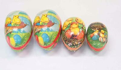 Papier Mache Vintage Nesting Eggs Set Made in W. Germany #10100