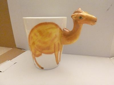 Camel Mug 3D Hand Painted Unusual Ceramic Coffee Cup Height 10.5cm
