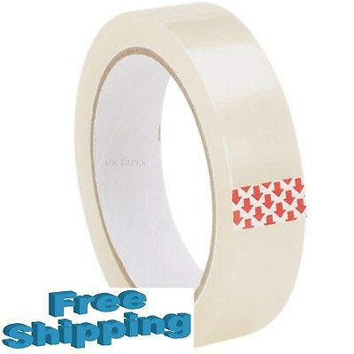 36 Big Rolls Of Clear Strong Parcel Packing Packaging Tape Sellotape 25Mm X 66M