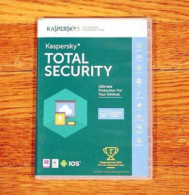 Kaspersky Total Security 5 Devices 1 Year Protection