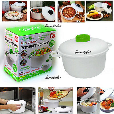 New Microwave Pressure Cooker Steamerrice Instant Cook Rice Pasta Fast Uk Seller