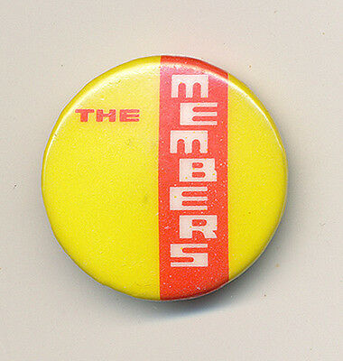 The Members RARE vintage button