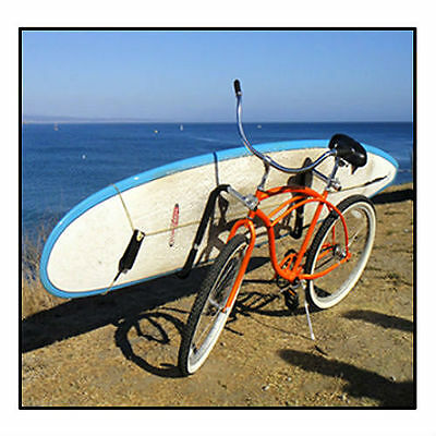Moved By Bikes LONGBOARD BIKE RACK, Board Transport, Quick Release! Bicycle Rack