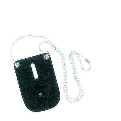 Safariland 7352-2 Plain Leather Neck Chain Badge Holder with Neck Chain