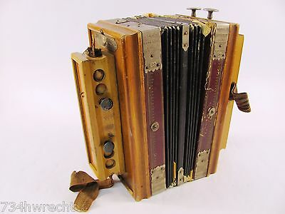 Vintage WOOD Universal ACCORDION ACCORDEON Pietschmann GERMANY Antique Deutschla