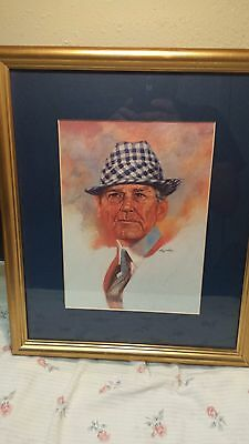 bear bryant framed lithograph-1992