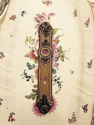 Antique French Hardware, P E Guerin? Door Knob Back Plate
