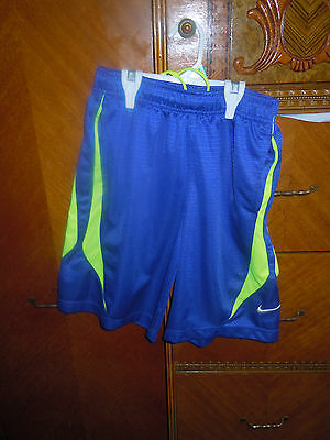 Nike Youth/boys Girls Athletic/basketball Shorts Size Medium Blue/green