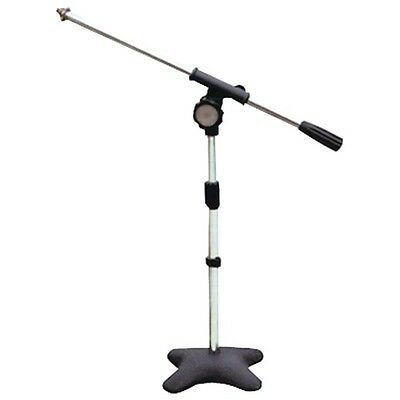 Pyle Pro PMKS7 Compact Base Microphone Stand 16' Boom Black Finish