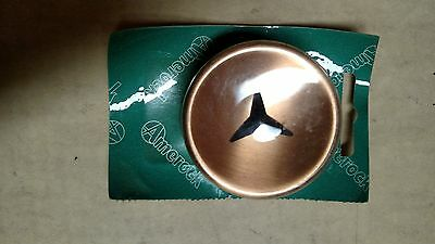 "Vtg Nos Amerock Satin Copper-Black Star 2"" Diameter A-3301-E"