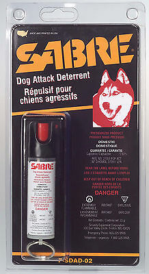 Sabre Black Dog Deterrent Spray 22 gram new P-SDAD-02