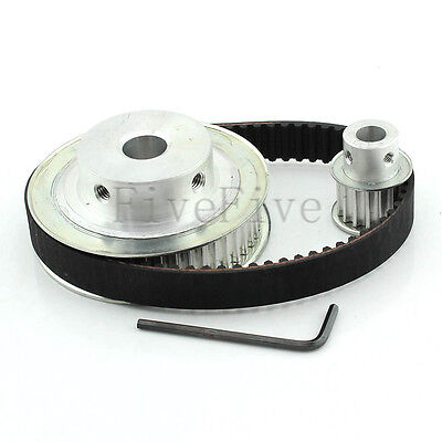 HTD 5M 48/16 Tooth Width 16mm Timing Pulley Belt set kit Reduction Ratio 3:1
