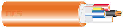 6.0mm 2 Core + Earth Orange Circular Electrical Cable 100mtr Roll