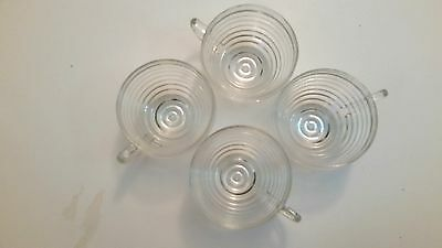 Anchor Hocking Ribbed Glass MANHATTAN Clear Cup