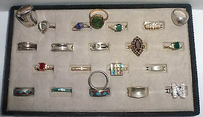 20 Vintage New Costurme Silver Gold Rings