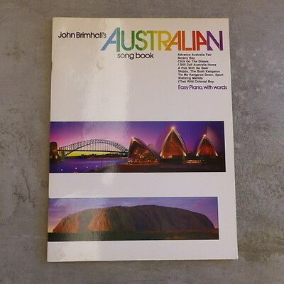 Vintage John Brimhalls Australian Song Book Easy Piano with Words 1984 24 pages