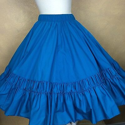 Vintage Square Dance Skirt  Partners Please Malco Modes Teal