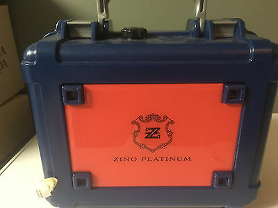 Zino Platinum 25 Stick Cigar Caddy Travel Case Humidor, Waterproof, New