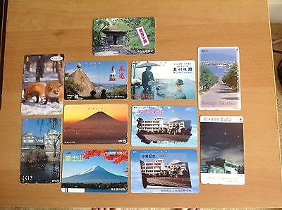 Eleven (11) Japanese Telephone Cards